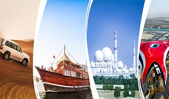 Dubai City Tour + Desert Safari + Marina Dhow Cruise Dinner + Abu Dhabi City Tour