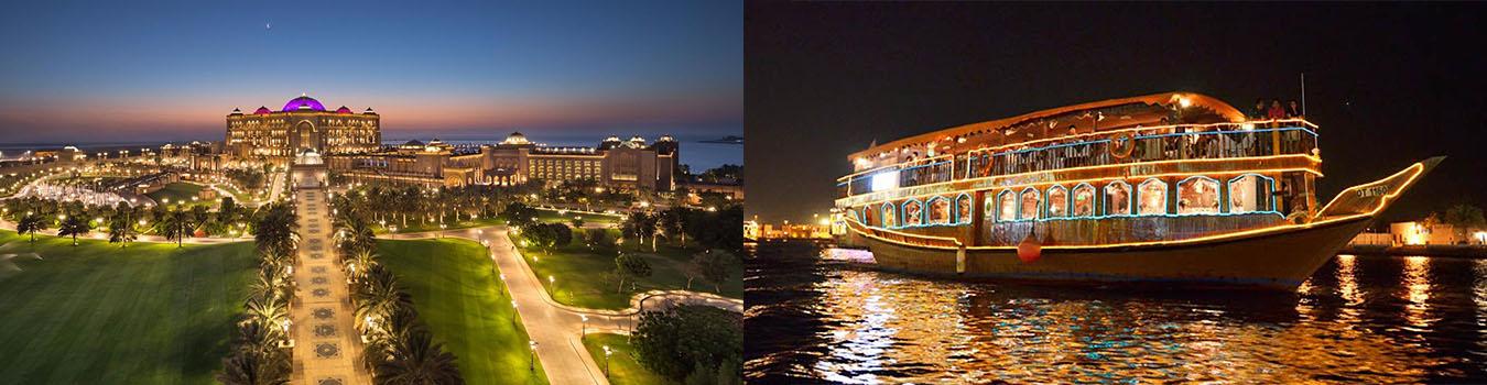 Abu Dhabi City Tour + Dhow Cruise Dinner